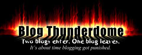 blog thunderdome logo pic, blogs suck