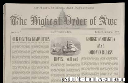 19th century newspaper 1800s fake