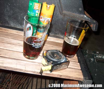 Alcohol and power tools