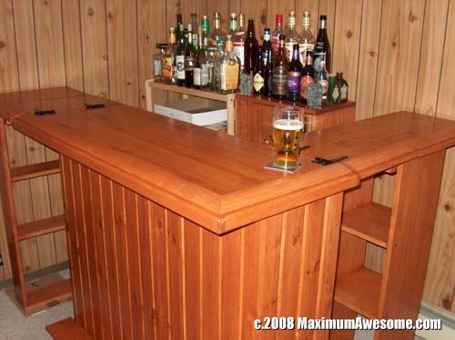 build your own bar wood