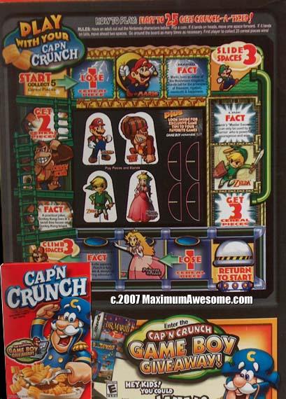 Cap'n Crunch with Mario Cereal appreciation