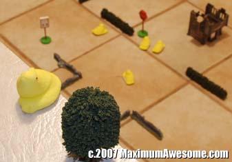 peep village war on the floor