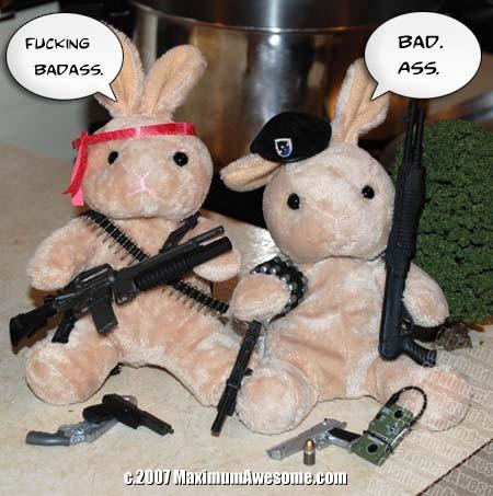 armed rabbits bunny guns