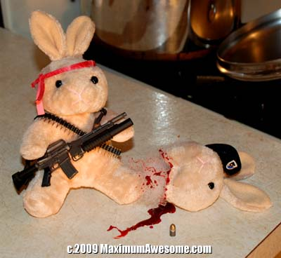 skippy bunny with dead rabbit
