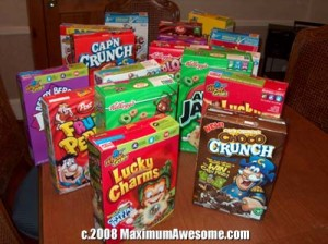 A cereal banquet for Cereal Awareness Month