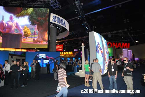 The aisles were less crowded this year. This is one of only 15 existing E3 photos without a scantily clad booth babe.