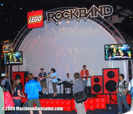 "Rock out with your blocks out. How is it possible that Lego Rock Band did not include ""Pieces of You"" and ""Another Brick in the Wall"" on the playlist?"