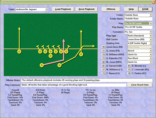 Football Mogul 2010 playbook editor