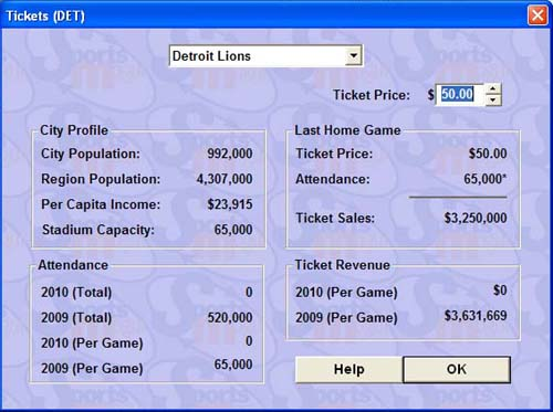 Ticket prices. Notice I forgot to take a screen pic of this until the 2010 season.