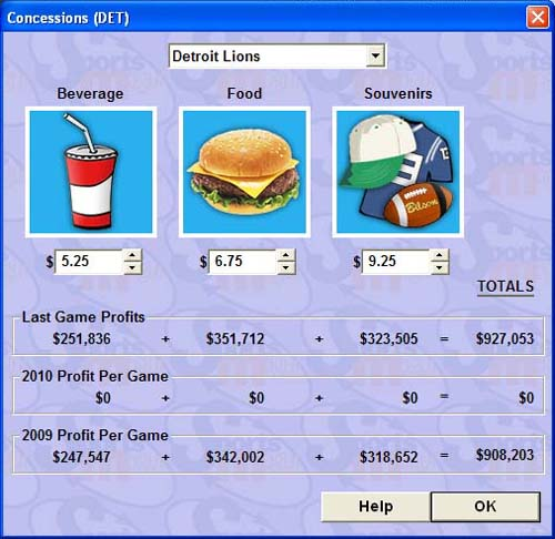 I also tweaked my concession stand prices. Yes, really. Stop laughing.
