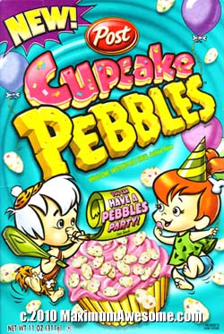 Cupcake Pebbles breakfast cereal