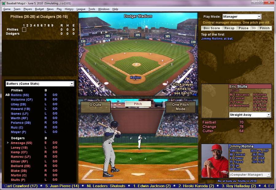 Baseball Mogul 2011 GM simulator screenshot