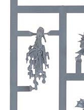 Plastic river troll vomit/puke on a sprue by Games Workshop for their Warhammer line.